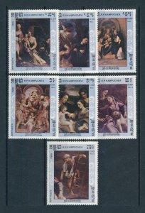 [104617] Cambodia 1984 Art paintings Correggio  MNH