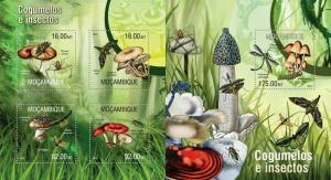 Mozambique 2013 insects mushrooms klb+s/s MNH