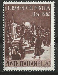 Italy # 971     Oath of Pontida       (1)   Mint NH