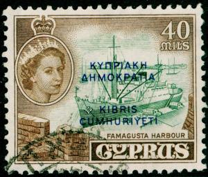 CYPRUS SG197, 40m deep green & sepia, FINE USED.