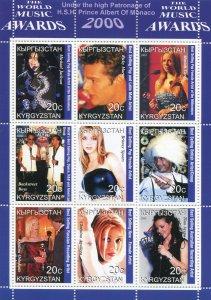 Kyrgyzstan 2000 MUSIC AWARDS Sheet Perforated Mint (NH)