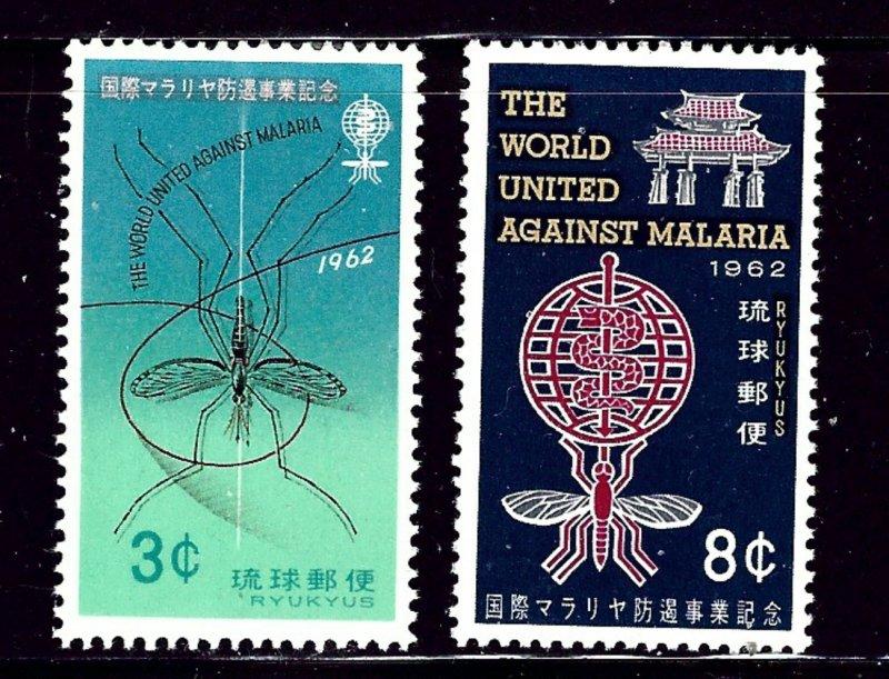 Ryukyu Is 95-96 MLH 1962 Fight Malaria