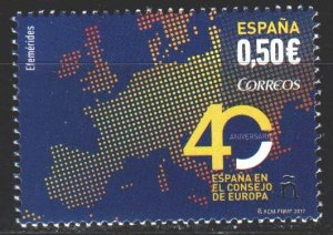 Spain. 2017. 5205. 40 years of Spain in the European Union, map. MNH.