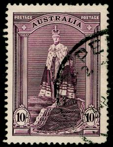 AUSTRALIA SG177, 10s dull purple, USED. Cat £17.