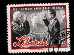 LIBERIA Scott 447 JFKl stamp