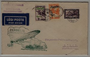 Hungary/Germany Zeppelin cover 30.3.31