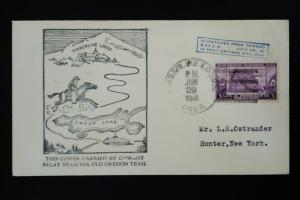 US Cowboy Relay Stamped Oregon Trail Cover