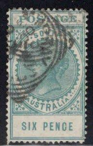South Australia Scott 152 Used, wmk 74 crown over A