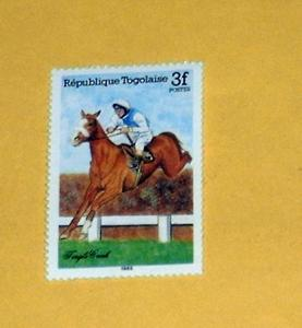 Togo - 1300, MNH - Horse Racing. SCV - $0.85