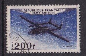 France  #C30  used  1954  plane  200fr  noratlas