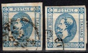 Italy #23, 23a F-VF Used CV $35.50 (X2480)