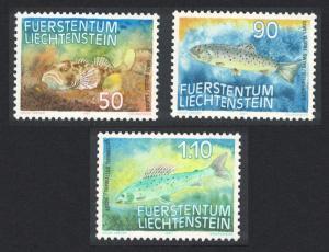 Liechtenstein Fish 1st series 3v SG#915-917