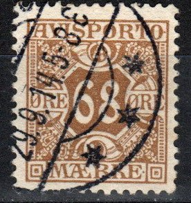 Denmark #P7 F-VF Used CV $27.50 (X2717)