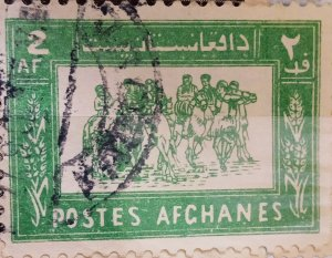 Afghanistan : 1961 (October) : 2p (green) (Rare Issue)