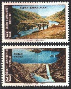 Turkey. 1966. 2008-9. Bridge, dam, landscape. MNH.