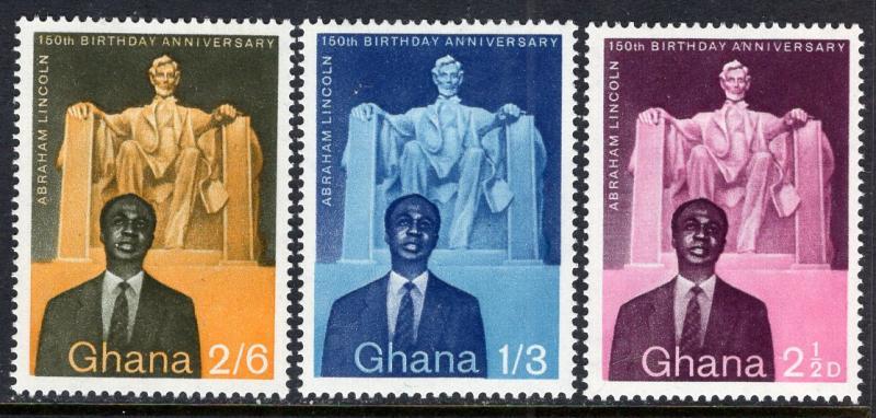 Ghana 39-41 Lincoln MNH VF