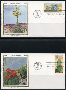 UNITED STATES COLORANO 1981 DESERT PLANTS  SET OF FIVE  FIRST DAY COVERS