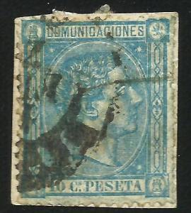 Spain 1875 Scott# 214 Used on paper