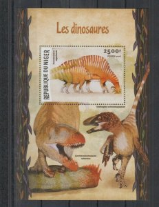 Niger MNH S/S Mean Dinosaurs 2016