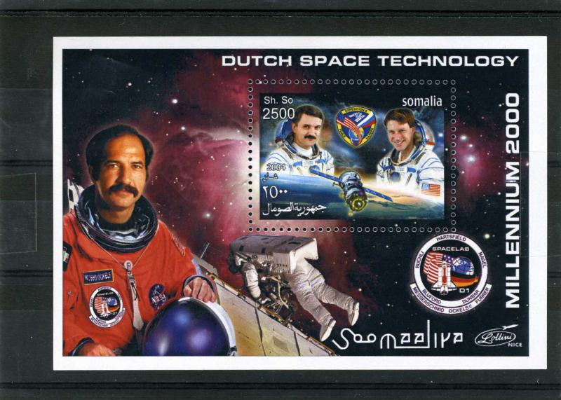 Somalia 2001 Dutch Space Technology s/s Perforated mnh