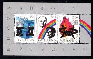 San Marino 1243 Europa Sheet  Mint (NH).  VF,   CV $7.00 ..... 5490202