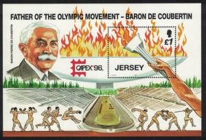 Jersey Baron De Coubertin Father of the Olympics MS SG#MS751