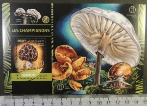 Djibouti 2016 mushrooms fungi snails s/sheet mnh #2
