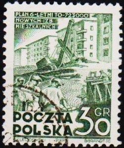 Poland. 1951 30g S.G.725 Fine Used
