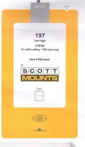 197 High X 188 Long 4 Scott  BLACK Mounts Small Panes, etc.