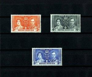 BRITISH HONDURAS - 1937 - KG VI - CORONATION ISSUE - MINT - MNH - SET OF 3!