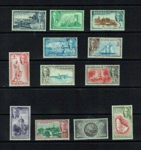 Barbados: 1950 King George VI Pictorial definitive set, complete, Mint
