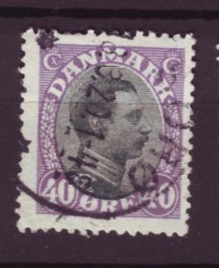 J2619 JLS stamps1913-28 denmark used #116 $4.50v king
