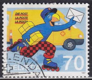 "Switzerland 986 USED 1997 ""Globi"" as Postman 70c"