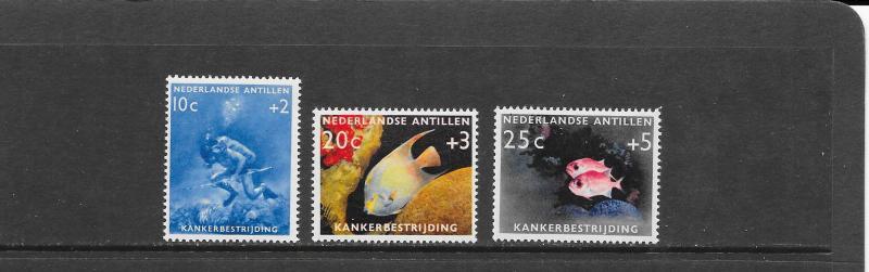 FISH - NETHERLANDS ANTILLES #B48-50 MNH