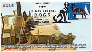 19-171, 2019, Military Working Dogs, Pictorial Postmark, FDC, Dutch Shepherd