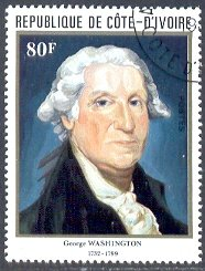 250th Birth Anniv. of George Washington, Ivory Coast stamp SC#624 used
