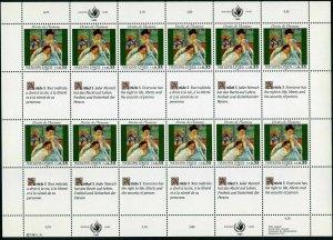 UN Geneva 180-181 sheets,MNH.Mi 180-181. Declaration of Human Rights,1989.Art.
