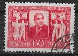 Hungary used  1951   yt 984  sn 927