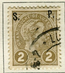 LUXEMBOURG; 1898 early Adolf OFFICIAL ' S.P. ' Optd issue fine used 2c.