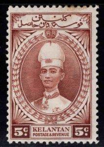MALAYA Kelantan Scott 32 MH* Sultan Ismail stamp few toned perfs at top