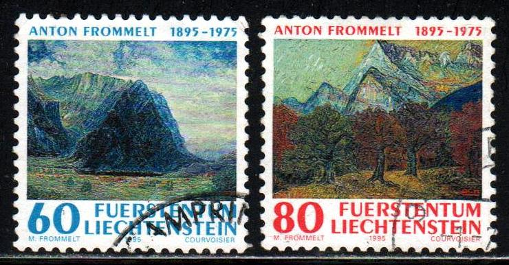 Liechtenstein # 1048-49 ~ Short Set 2/3 ~ Used, HMR ~ cv 2.40