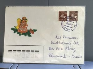 Lithuania 1991 to Denmark stamps cover R29369