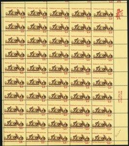 1726, Mint NH 13¢ Misperforated Sheet of 50 Stamps - Stuart Katz