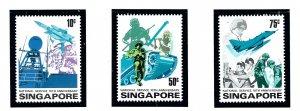 Singapore 260-62 MNH 1977 National Service 10th Anniversary
