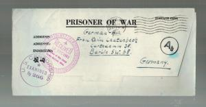 1944 CAmp McCAin MS USA POW Prisoner of War Camp Censored Cover to Germany