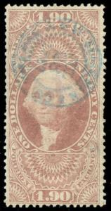 momen: US Stamps #R80c Revenue Used Handstamp