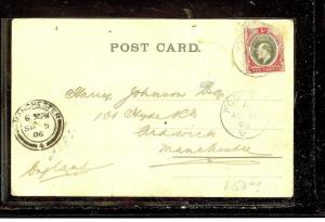SOUTHERN NIGERIA (P1012B) 1906 KE 1D ON PPC FROM FORCADOS