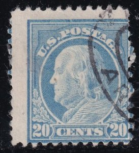 US STAMP #515 – 1917 20c Franklin, MISPERF ERROR
