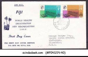 FIJI - 1966 WORLD HEALTH ORGANIZATION WHO - 2V - FDC