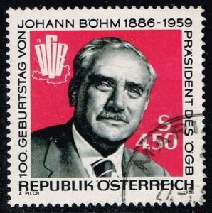 Austria #1334 Johann Bohm; Used (0.45)